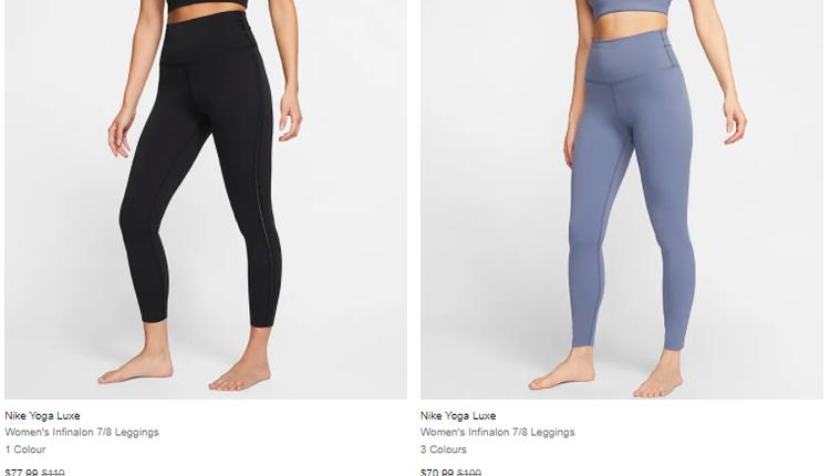 Nike瑜伽系列也有促销