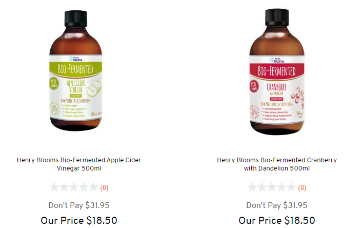 Henry Blooms产品低至半价