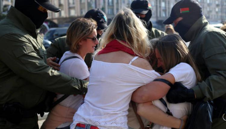 白俄罗斯26日的一场示威游行