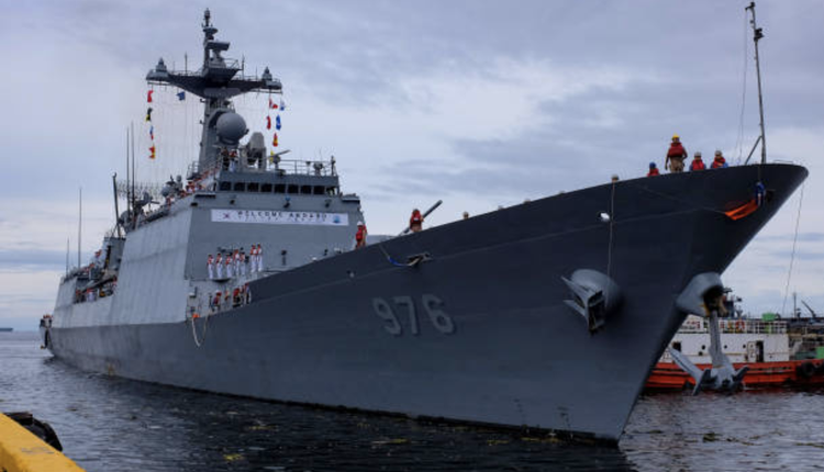 韩国搜寻军舰示意图
