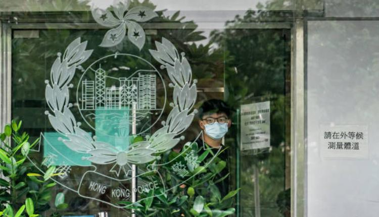 前香港众志秘书长黄之峰9月24日离开警局