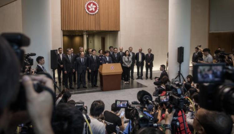 香港政府(图片来源:Chris McGrath/Getty Images)