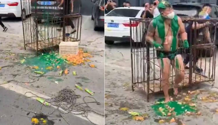 河南小伙結婚被關鐵籠澆綠漆