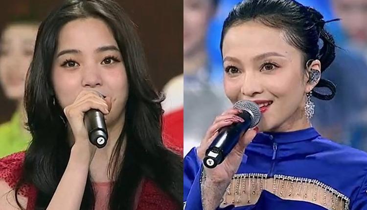 欧阳娜娜与张韶涵在大陆10.1晚会献唱