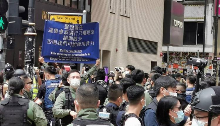 香港网友1日发起多区集会游行。