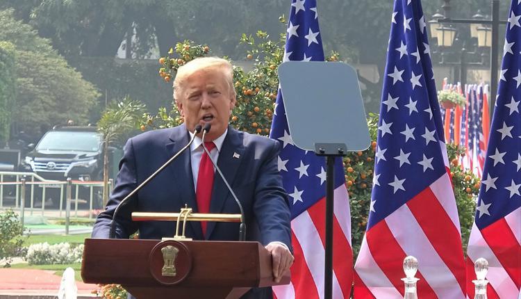 美国总统川普(特朗普)。