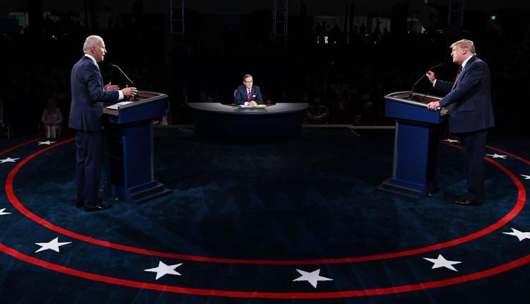 2020年美国总统大选举行了首场辩论