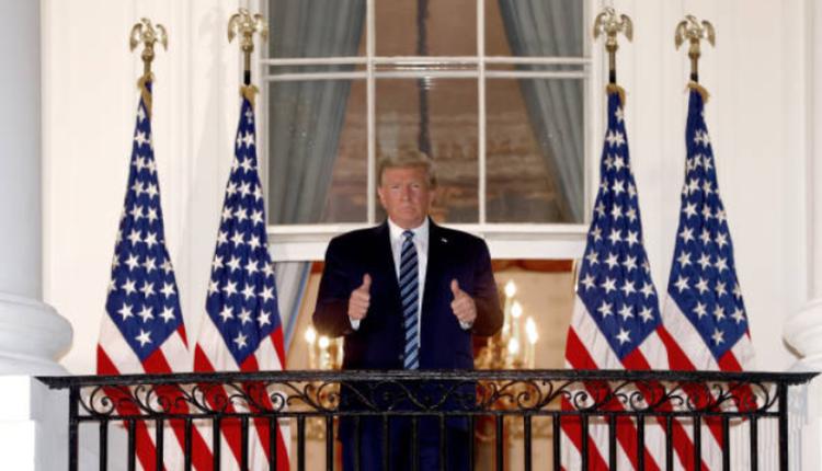 美国总统川普出院返回白宫