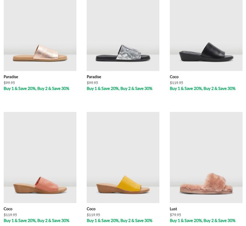 各式各样的女鞋