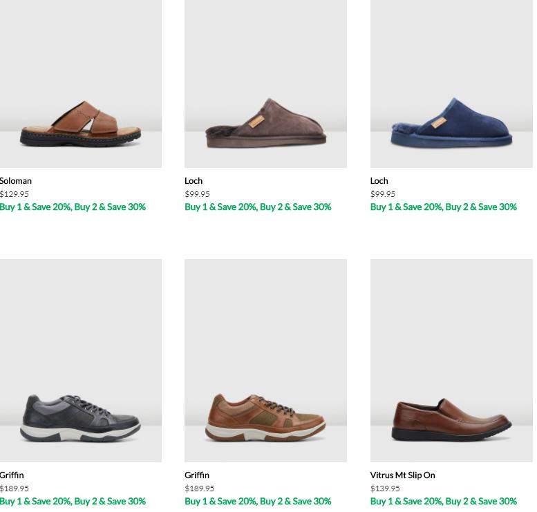 各式各样的男鞋