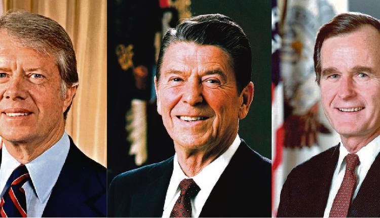 卡特、里根、布什