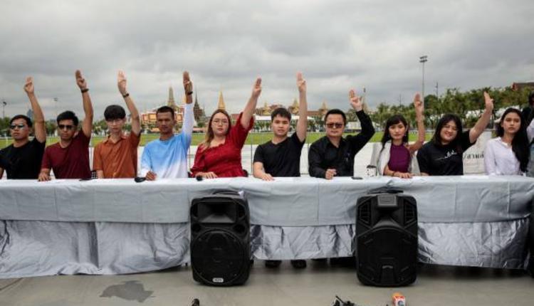 泰国反政府示威活动记者会