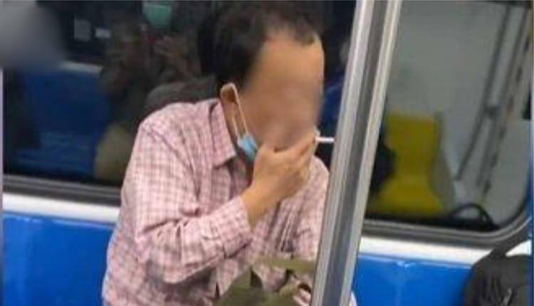北京地铁抽烟男子