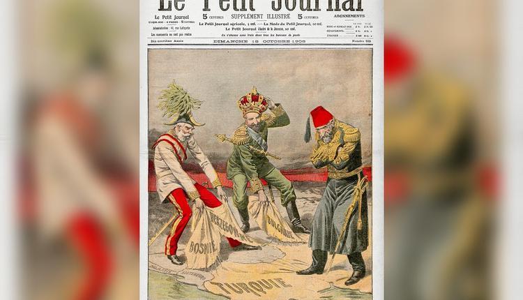 法国报纸封面当年描绘的波士尼亚危机(图片来源:维基百科)