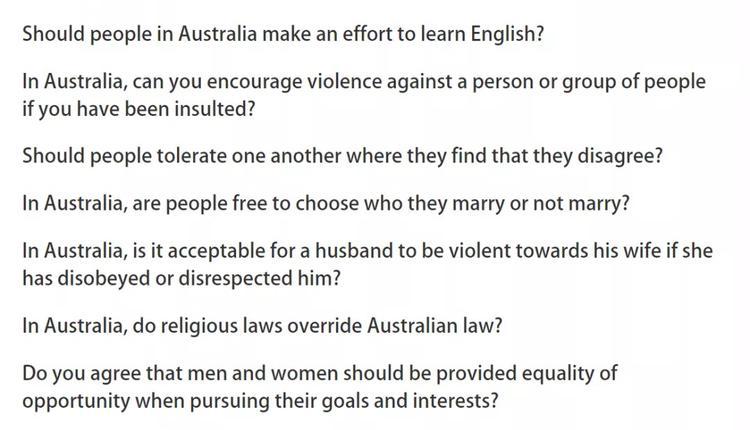 澳洲价值观的问题