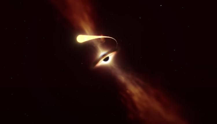 黑洞吸收星体