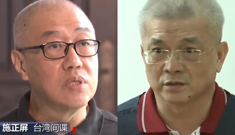 师大退休教授施正屏(左)及从事两岸交流的蔡金树(右)