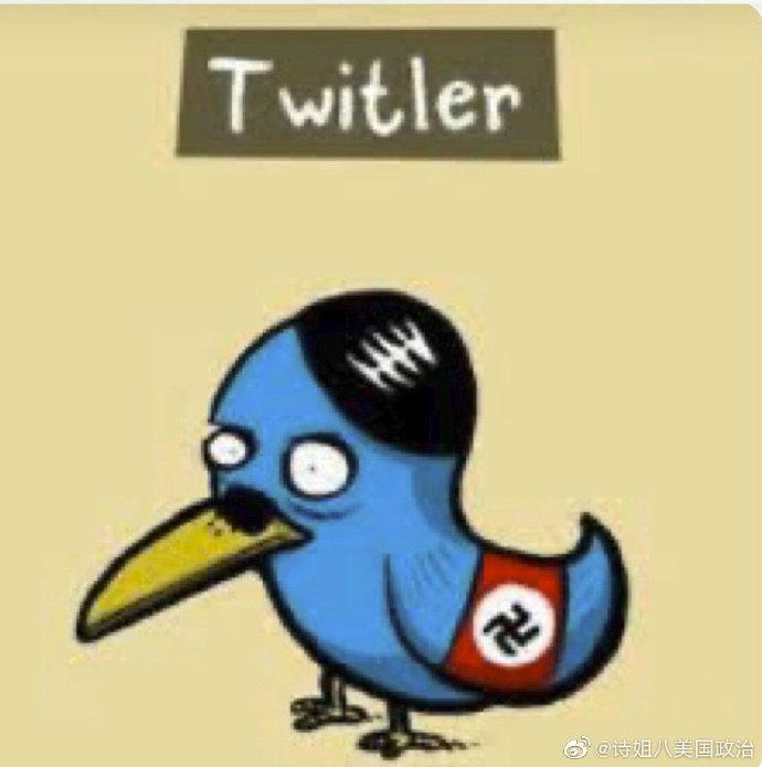 网友重新设计的推特logo暗讽其言论审查