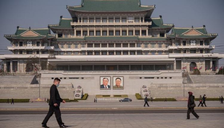 朝鲜平壤的金日成广场