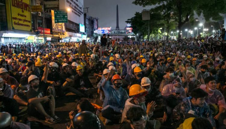 18日曼谷反政府示威集会