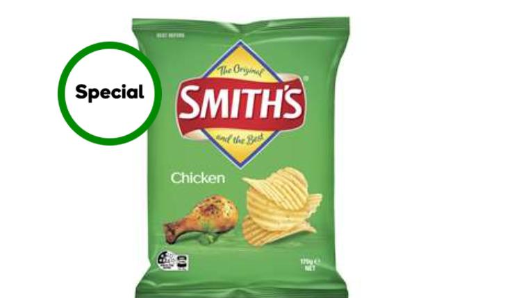 Smith's低卡无油轻培薯片