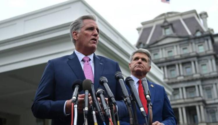 美國眾議院共和黨領袖麥卡錫與眾議院外委會共和黨首席議員麥考爾