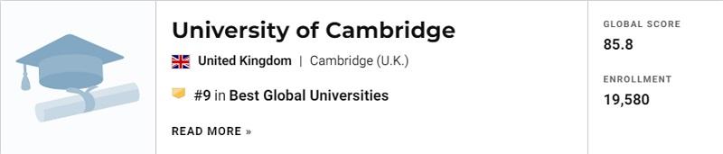 USNews最新世界大学排名