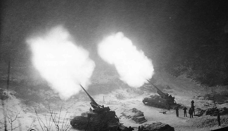 图为朝鲜战争历史图片(图片来源:维基公有领域)