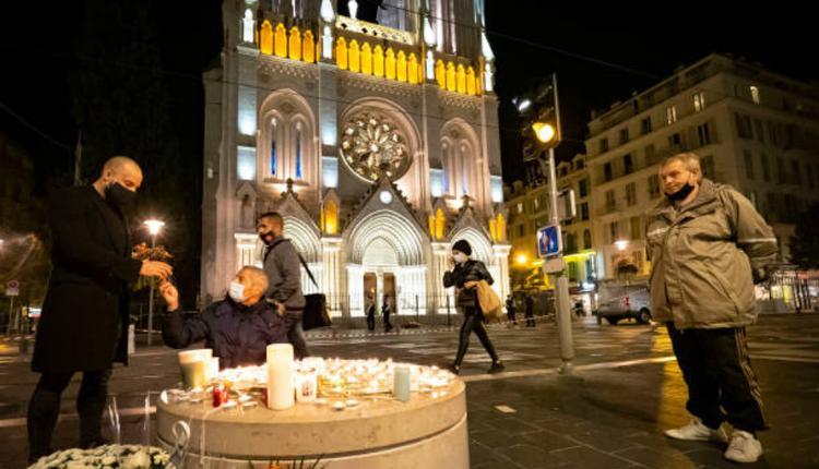 法国南部城市尼斯市中心一处圣母大教堂