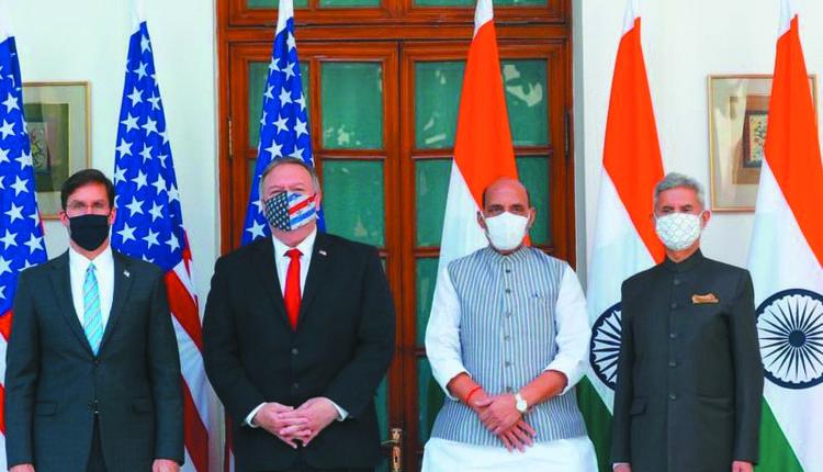 美国国防部长Esper和国务卿Pompeo会见了印度国防部长辛格和外交部长贾尚卡尔