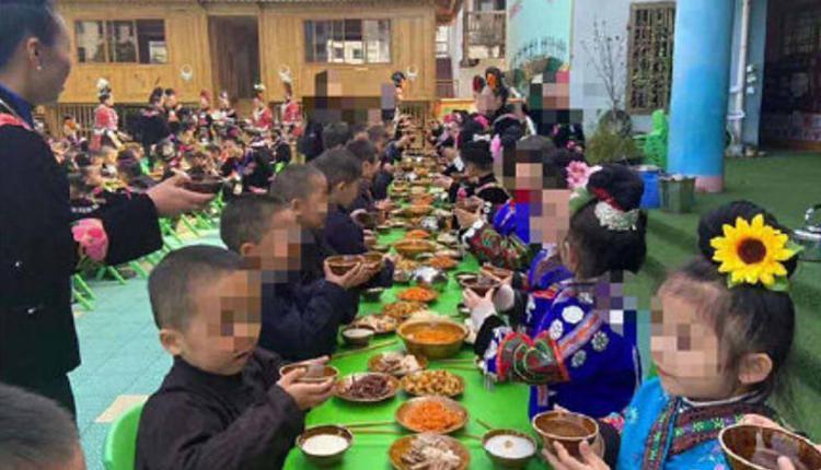 幼儿园苗年节活动现场