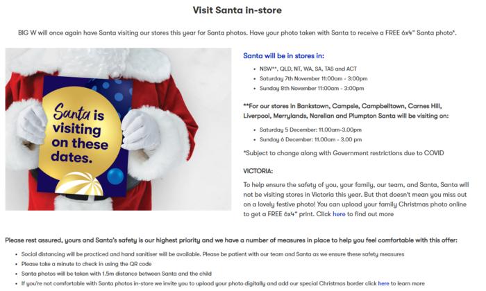 免费的6x4 Santa Photo 或 6x4 Christmas Print活动本周末开始