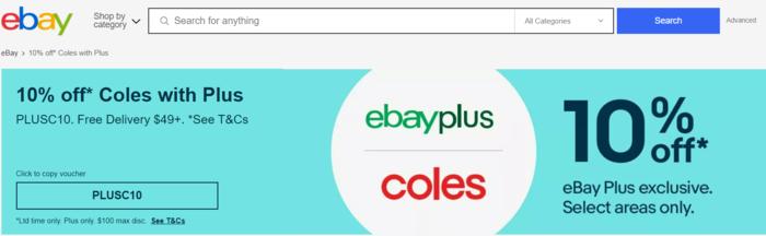 Plus会员在ebay店可以减去10%及买满49刀包邮