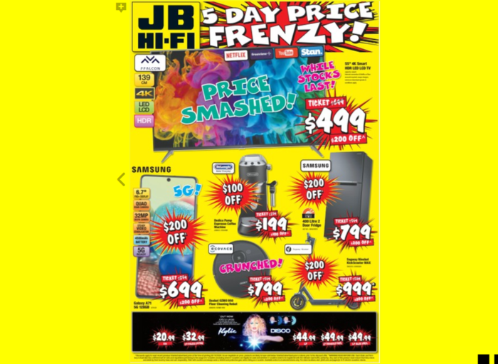 JB Hi-Fi推出5天降价促销活动