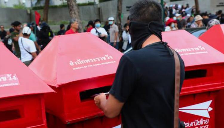 泰国周日(8日)反政府示威活动