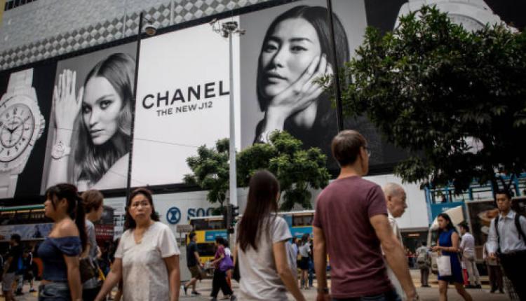 香港香奈儿的巨型广告牌