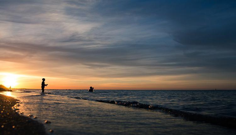 墨尔本Mornington半岛的Dromana海滩