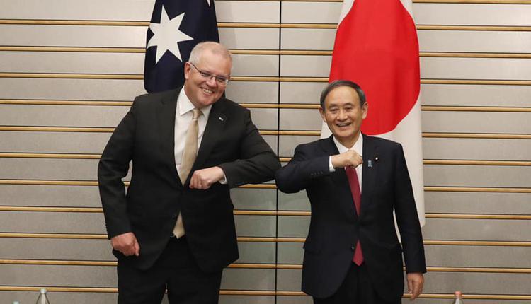 莫里森和日本新任首相菅义伟