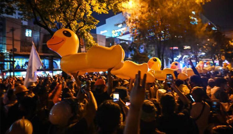 18日泰国示威