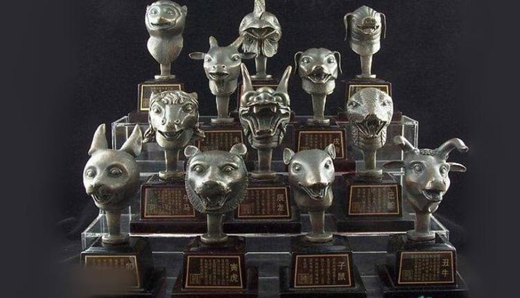 圆明园十二生肖兽首铜像复制件