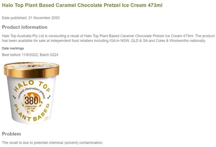 473毫升的植物基焦糖巧克力椒盐冰激凌