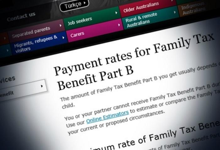 家庭税收福利政策B部分