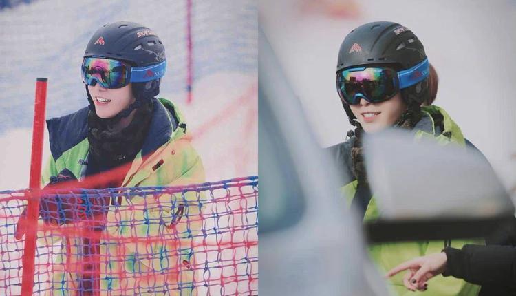 网友晒出的范丞丞滑雪照