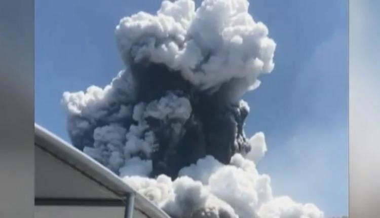 新西兰火山爆发