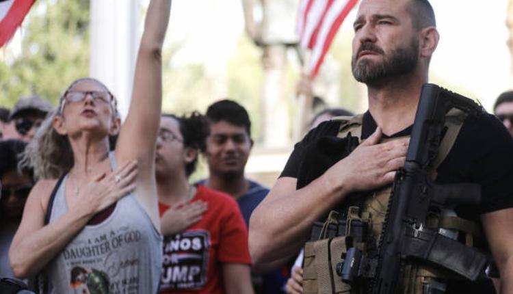 美國民眾在選後發起示威抗議活動
