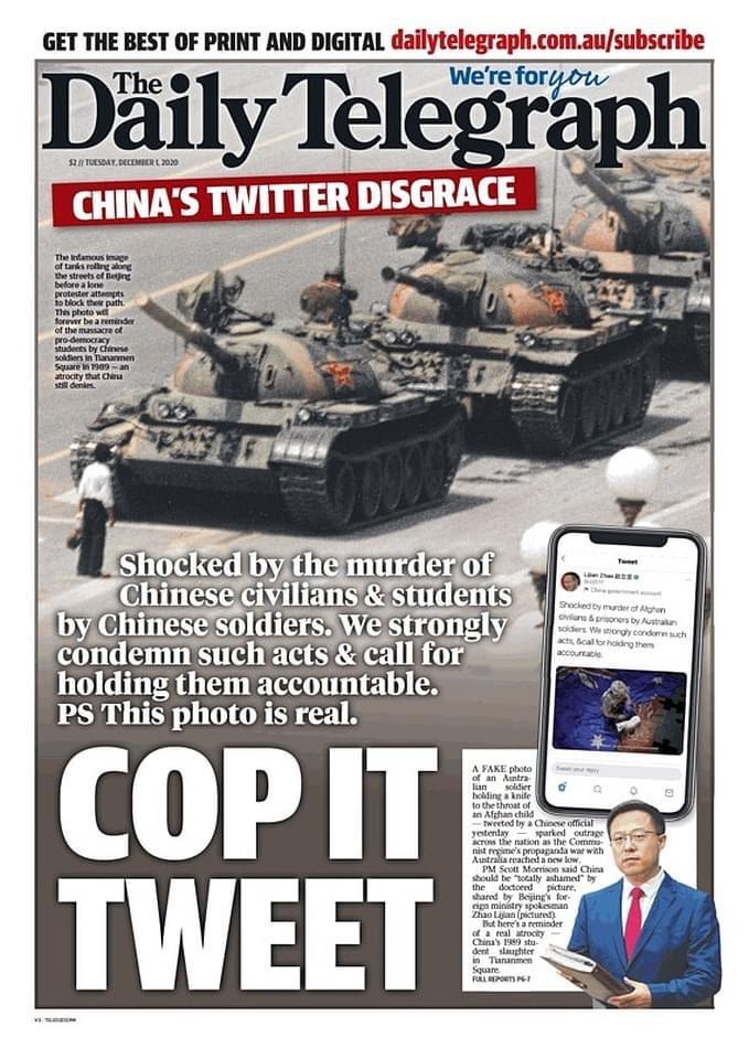 澳媒体刊坦克人照 告知这是真图