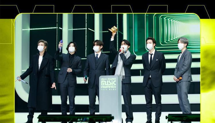 BTS防弹少年团包下2020 MAMA年度歌手等8项大奖