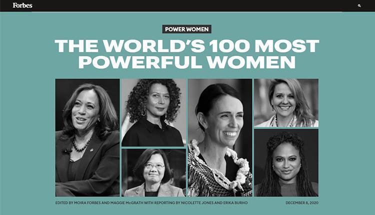 福布斯2020年全球百大最有权势女性