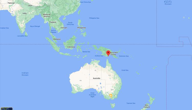 巴新与澳大利亚的地理距离
