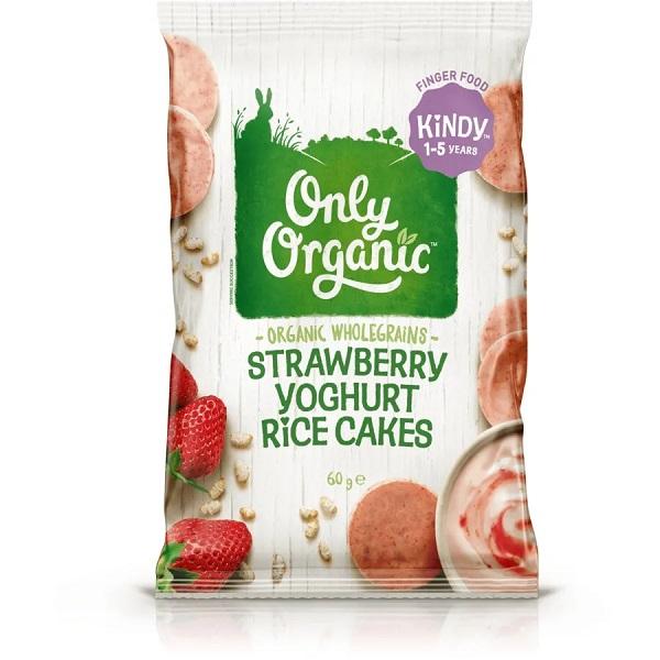 Only Organic草莓米饼